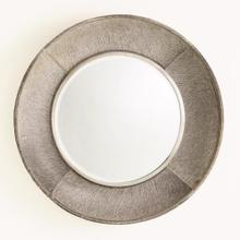 Metro Round Mirror-Grey Hair-on-Hide