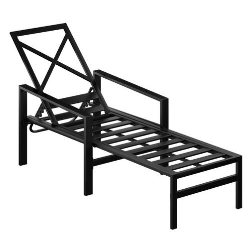 Accentrics Home - Outdoor X-Back Metal Chaise Lounge