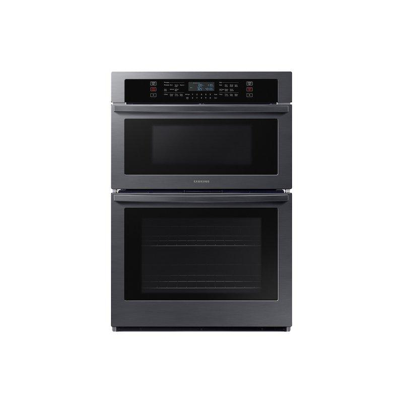 """30"""" Smart Microwave Combination Wall Oven in Black Stainless Steel"""