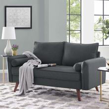 See Details - Revive Upholstered Fabric Loveseat in Gray