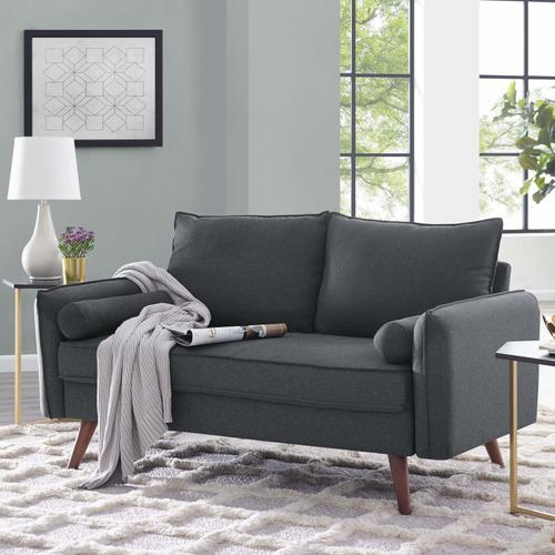 Modway - Revive Upholstered Fabric Loveseat in Gray
