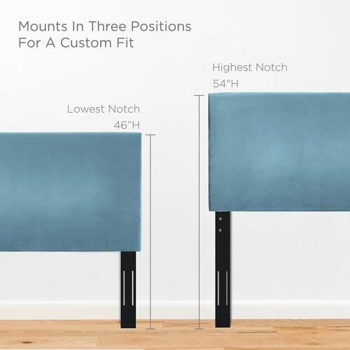 Modway - Taylor Twin Upholstered Performance Velvet Headboard in Sea Blue