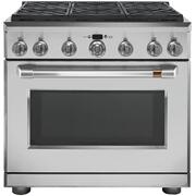 """Café 36"""" Dual-Fuel Commercial-Style Range with 6 Burners (Natural Gas)"""