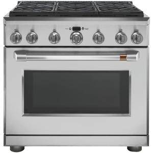 "Cafe Appliances36"" Dual-Fuel Commercial-Style Range with 6 Burners (Natural Gas)"
