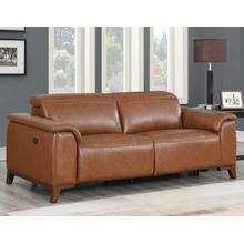 Bergamo Dual-Power Leather Reclining Sofa