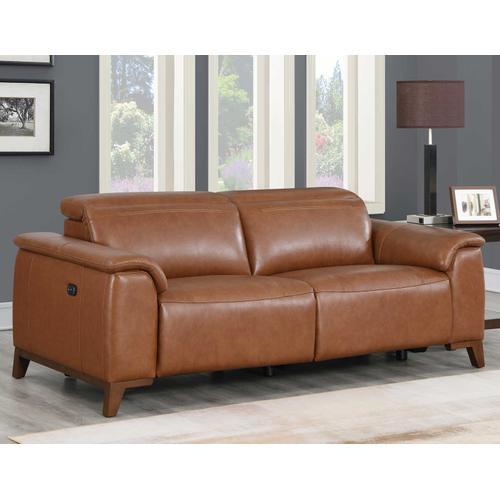 Bergamo Dual-Power Leather Reclining Sofa