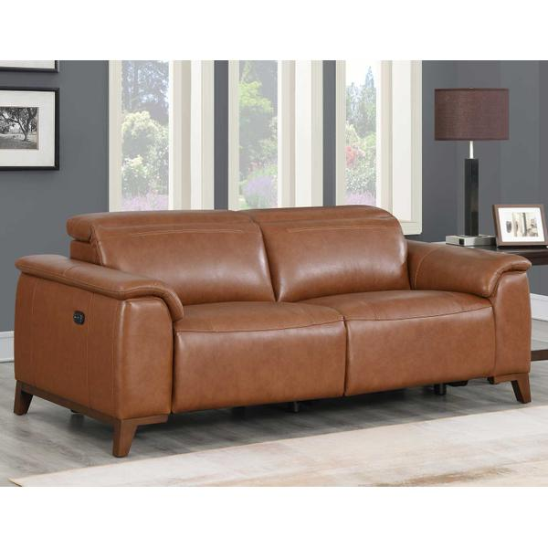 See Details - Bergamo Dual-Power Leather Reclining Sofa