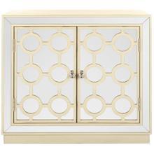See Details - Kaia 2 Door Chest - Antique Beige / Nickel / Mirror