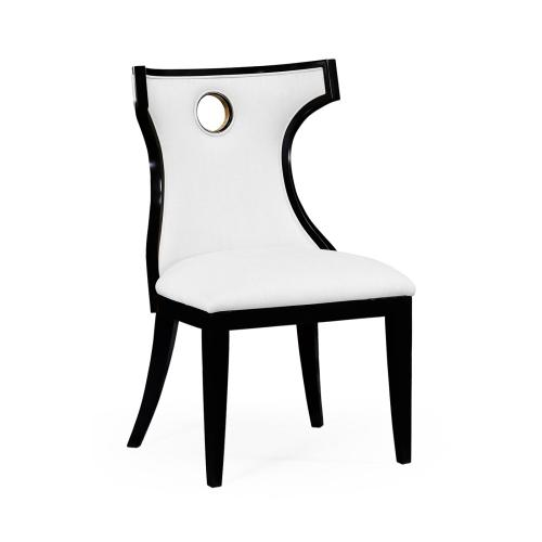 Greek revival Biedermeier black side chair - COM