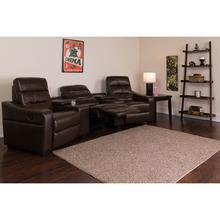 Theatre Seats  LeatherSoft Reclining Home Theatre Sectional Sofa