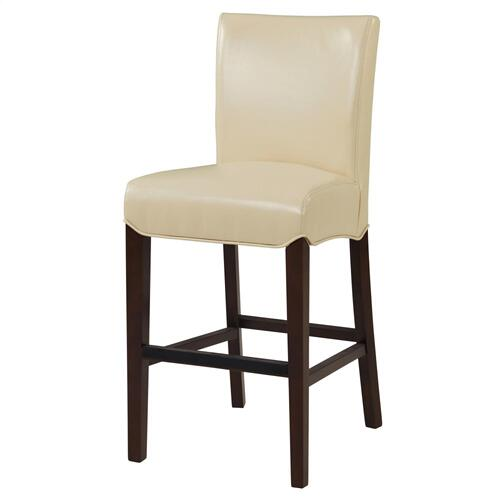 Milton Bonded Leather Counter Stool, Cream