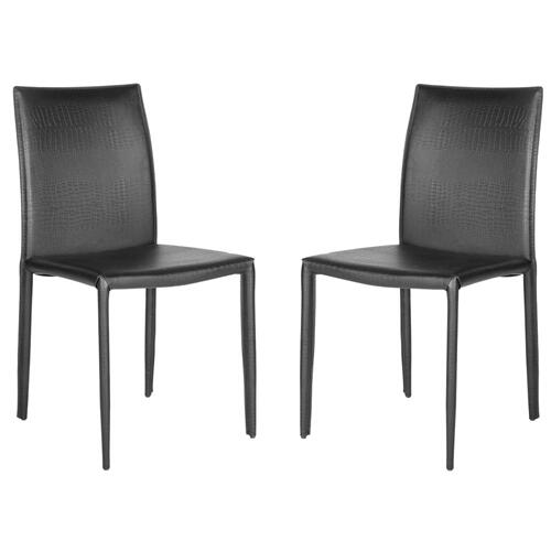 Karna 19''h Dining Chair - Black Crocodile