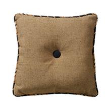 Ashbury Black & Tan Tufted Throw Pillow, 18x18