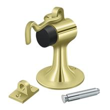 Cement Floor Mount Bumper w/ Holder, Solid Brass - Polished Brass