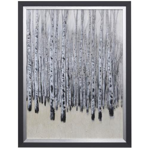 Style Craft - NEUTRAL ASPENS I  28 X 36  Made in USA  Textured Framed Print