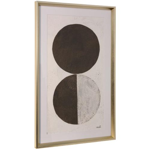 Style Craft - ORBS V  36in ht X 22in w  Framed Print Under Glass
