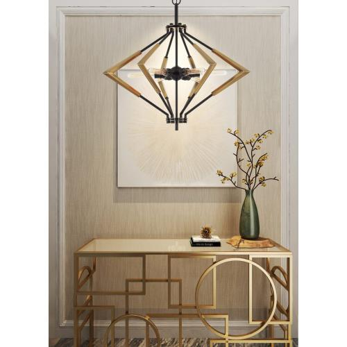 Malounta 60W X 6 Metal Chandelier (Edison Bulbs Not included)