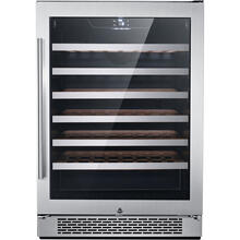 See Details - Hanover Library Series 24-In. 54-Bottle Wine Cooler, with Touch Control, Single Zone Compressor, Door Lock in Stainless Steel, HWC60301-1SSL