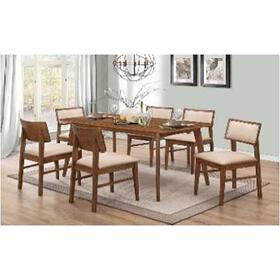 Garcetti Retro Walnut Dining Chair