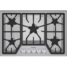 "See Details - Masterpiece 30"" Stainless steel 5-burner gas cooktop"
