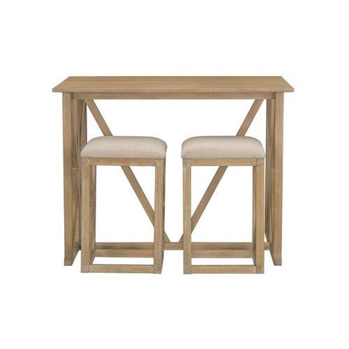 Standard Furniture - Langston Folding Bar With Barstools, Brown
