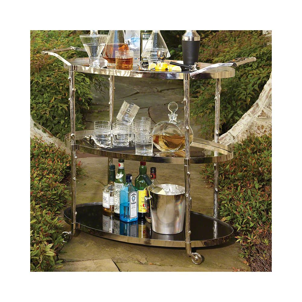 Arbor Bar Cart-Nickel