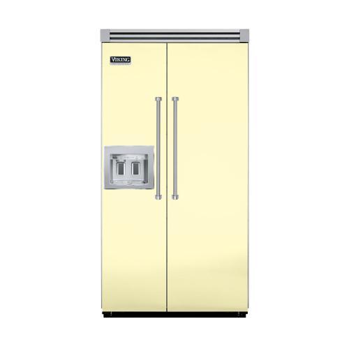 "Viking - Lemonade 42"" Quiet Cool™ Side-by-Side with Dispenser - VISB Tru-Flush™ (42"" wide)"