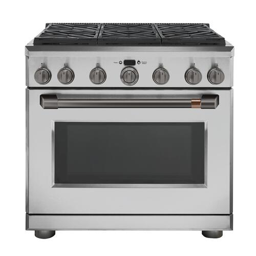 """Cafe - Café™ 36"""" All-Gas Commercial-Style Range with 6 Burners (Natural Gas)"""
