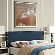 Phoebe King Upholstered Fabric Headboard in Azure