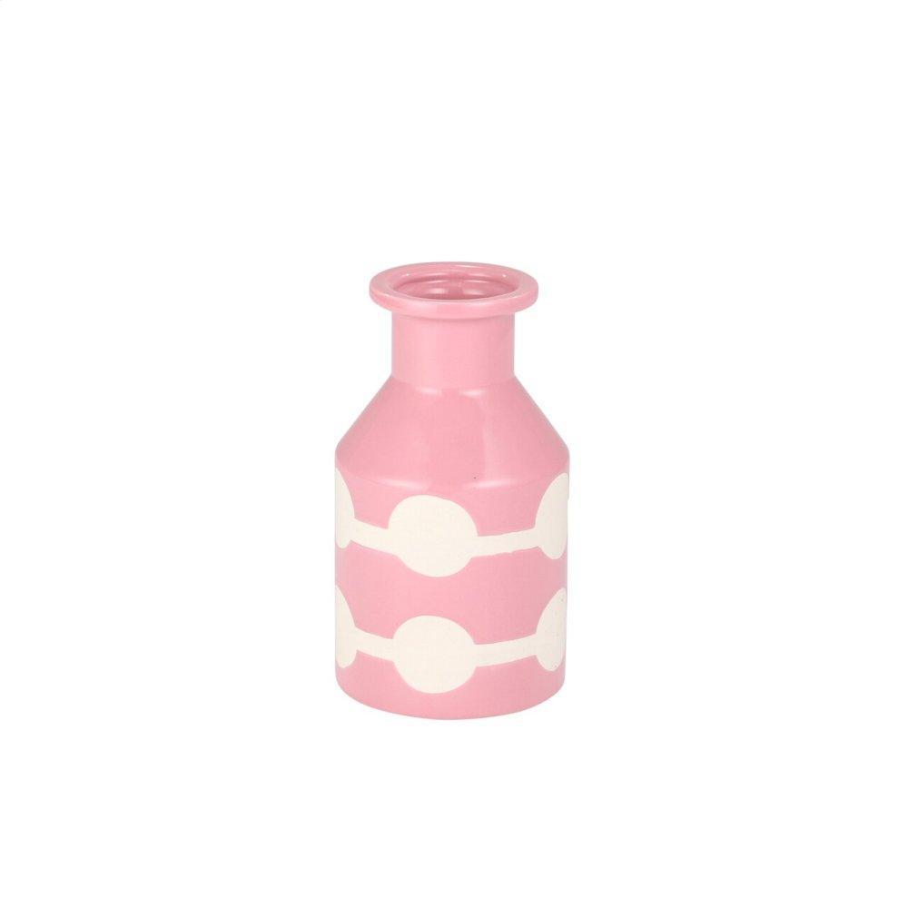 See Details - Pink/white Ceramic Bottle Vase