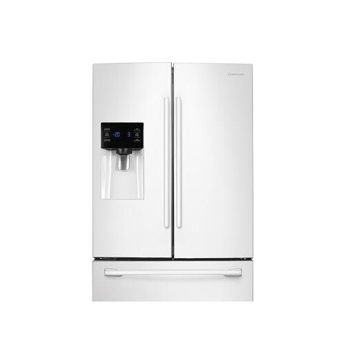 25 cu. ft. French Door Refrigerator with External Water & Ice Dispenser in White