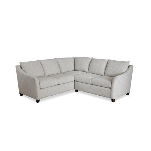 Cleo Small L-Shaped Sectional, Arm Style Flare