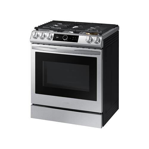 6.0 cu ft. Smart Slide-in Gas Range with Smart Dial & Air Fry in Stainless Steel