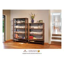 """See Details - 55"""" Bookcase with 3 shelves & Casters**"""