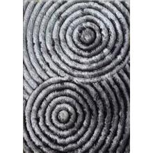 Soft Three Dimensional Polyester Viscose Hand Tufted 3D 313 Shag Area Rug by Rug Factory Plus - 2' x 3' / Gray