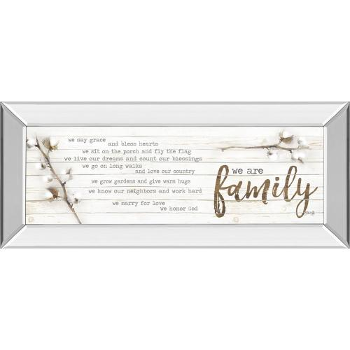 """""""We Are Family"""" By Marla Rae Mirror Framed Print Wall Art"""