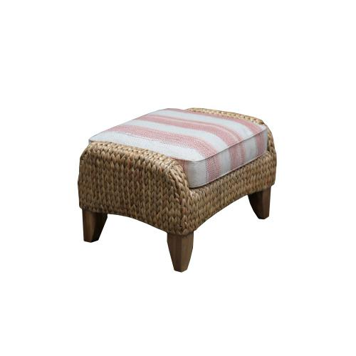 Ottoman, Available in Water Hyacinth Finish Only.