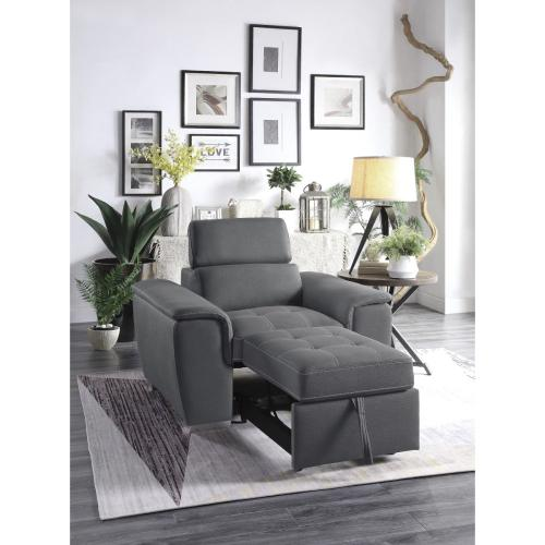 Chair with Pull-out Ottoman