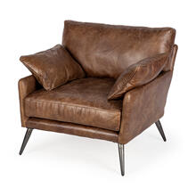 Cochrane I Brown Leather Wrapped Chair
