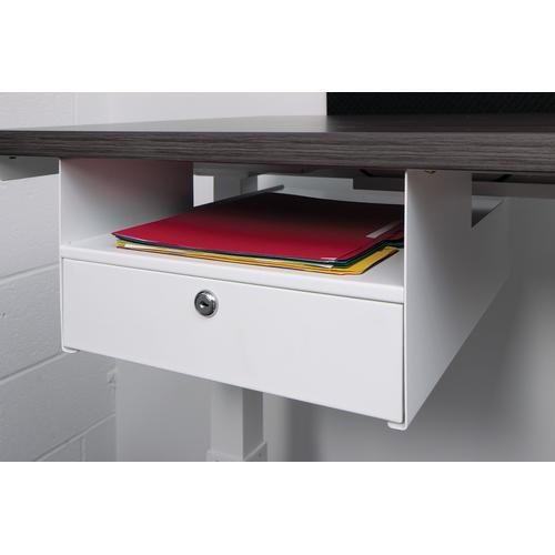 Personal Storage Shelf/locking Drawer, White