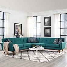 See Details - Engage L-Shaped Sectional Sofa in Teal