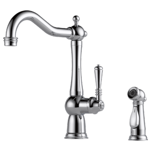 Single-handle Faucet With Side Sprayer Product Image