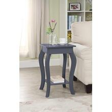 7089 GRAY Square Top End Table