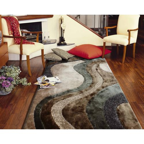 Designer Shag S.V.D. 29 Area Rug by Rug Factory Plus - 2' x 3' / Blue