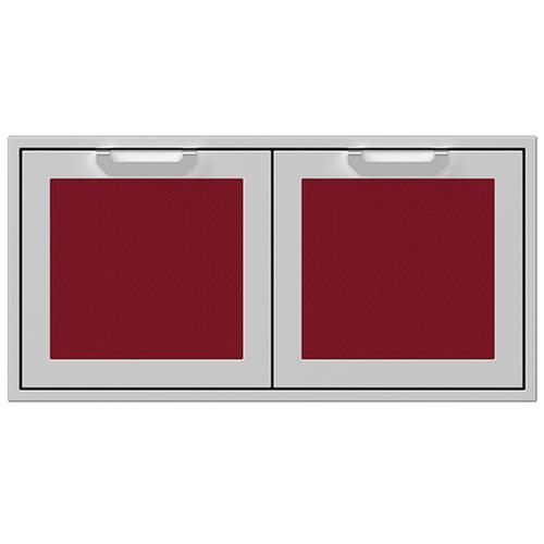 """Hestan - 42"""" Hestan Outdoor Double Storage Doors - AGSD Series - Tin-roof"""