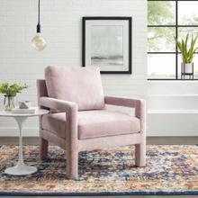 Rehearse Crushed Performance Velvet Armchair in Pink