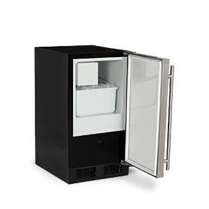 "Marvel - Marvel 15"" ADA Height Crescent Ice Machine - Solid Stainless Steel Door - Right Hinge"