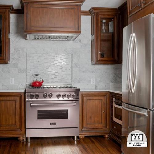 Zline Kitchen and Bath - ZLINE Ducted Wall Mount Range Hood Insert in Stainless Steel (695) [Size: 34 inch]