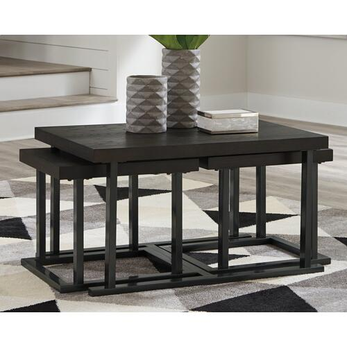 Airdon Coffee Table With Stools (set of 3)
