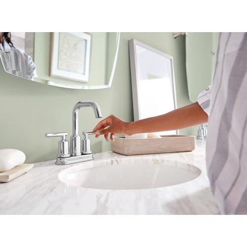 Product Image - Gibson Chrome two-handle high arc bathroom faucet